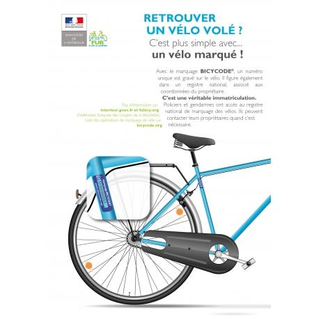 Marquage vélo avec BICYCODE®